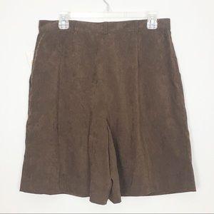 Talbots Shorts - NWT Talbots Vintage High Waisted Brown Shorts 14